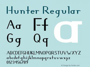 Hunter Regular Version 2.0 - 18 Nov 1998 Font Sample