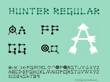 Hunter Regular Unknown Font Sample