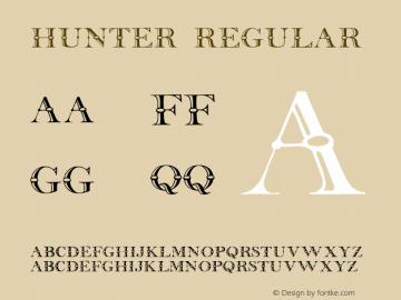 Hunter Regular Converted from C:\TTFONTS\Hunter__.TF1 by ALLTYPE Font Sample