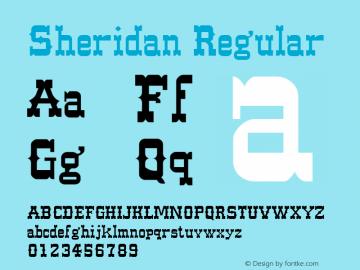 Sheridan Regular Unknown Font Sample
