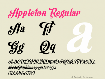 Appleton Regular 1.000;com.myfonts.easy.decade-typefoundry.appleton.regular.wfkit2.version.44yH Font Sample
