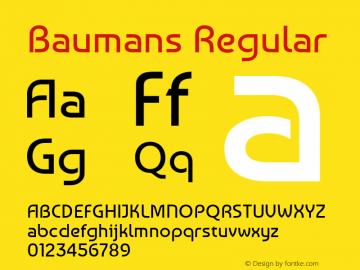 Baumans Regular Version 001.001 Font Sample