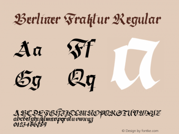 Berliner Fraktur Regular Version 1.030;PS 001.030;hotconv 1.0.70;makeotf.lib2.5.58329 DEVELOPMENT;com.myfonts.easy.resistenza.berliner-fraktur.slanted.wfkit2.version.43RH Font Sample