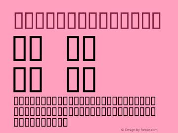 Bourke Regular Altsys Fontographer 4.0.3 3/28/94 Font Sample