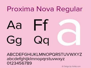 Proxima Nova Regular Version 2.003 Font Sample