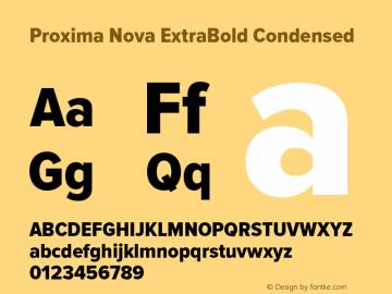 Proxima Nova ExtraBold Condensed Version 2.003 Font Sample
