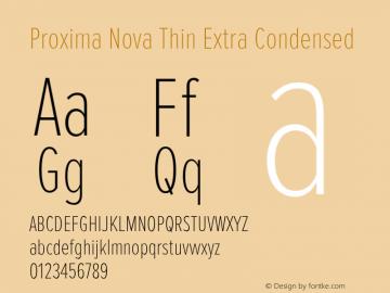 Proxima Nova Font,ProximaNova-ThinExtraCondensed Font