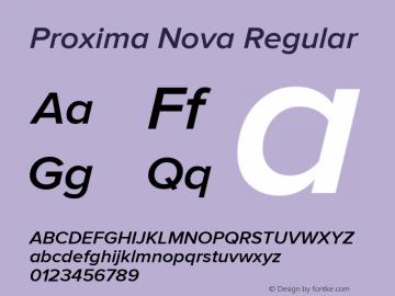 Proxima Nova Regular Version 2.008; Proxima Nova Semibold Italic;com.myfonts.easy.marksimonson.proxima-nova.semibold-it.wfkit2.version.4n4h Font Sample