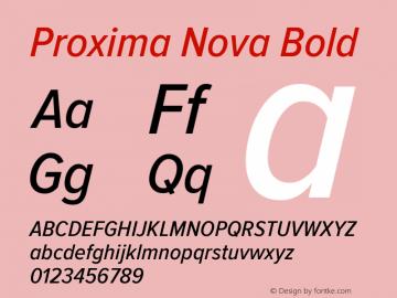 Proxima Nova Bold Version 2.008; Proxima Nova Cond Medium Italic;com.myfonts.easy.marksimonson.proxima-nova.cond-medium-italic.wfkit2.version.4n4t Font Sample
