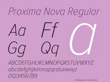 Proxima Nova Regular Version 2.008; Proxima Nova Cond Thin Italic;com.myfonts.easy.marksimonson.proxima-nova.cond-thin-it.wfkit2.version.4n4z Font Sample