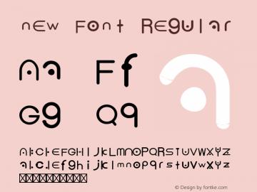 new Font Regular Version 1.000;PS 001.000;hotconv 1.0.70;makeotf.lib2.5.58329图片样张