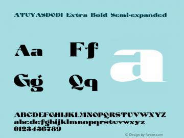 ATUYASDODI Extra Bold Semi-expanded Version 1.0 Font Sample