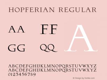 Hopferian Regular Version 1.200图片样张