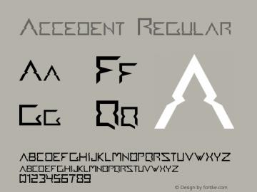 Accedent Regular Version 1.1 Font Sample