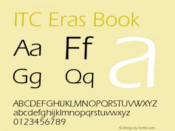 ITC Eras Book Version 001.001 Font Sample