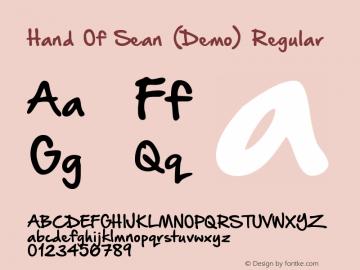 Hand Of Sean (Demo) Regular Version 1.1 September 30, 2013 Font Sample