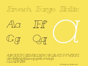 French Forge Italic Version 1.000图片样张