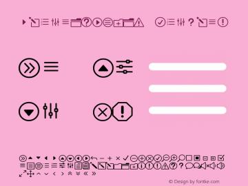 ElegantIcons Regular Version 1.0 Font Sample