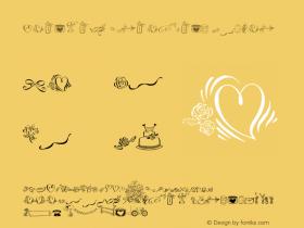 Cantoni Ornaments Regular Version 1.000;PS 001.001;hotconv 1.0.56 Font Sample