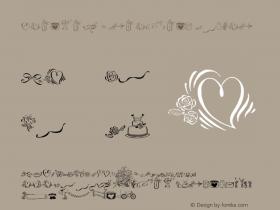 Cantoni Ornaments Regular Version 001.002 Font Sample