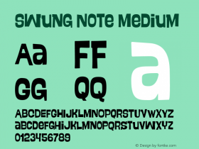 Swung Note Medium Version 001.000 Font Sample