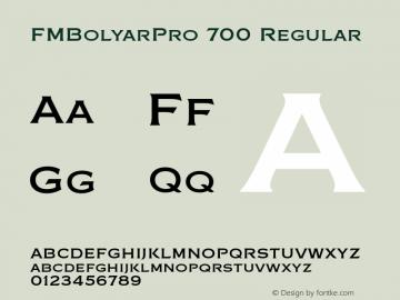 FMBolyarPro 700 Regular Version 2.055 Font Sample
