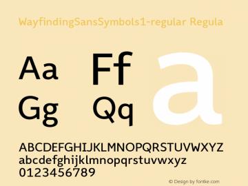 WayfindingSansSymbols1-regular Regula Version 1.100;PS 001.100;hotconv 1.0.70;makeotf.lib2.5.58329;com.myfonts.fdi.wayfinding-sans-symbols.1.wfkit2.3Uxe图片样张