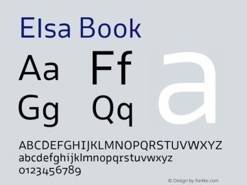 Elsa Book Version 1.000; Font Sample