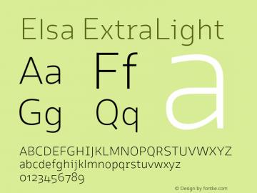 Elsa ExtraLight Version 1.000; Font Sample