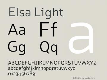Elsa Light Version 1.000; Font Sample