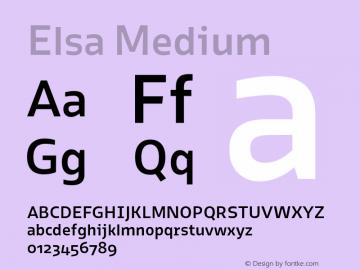 Elsa Medium Version 1.000; Font Sample