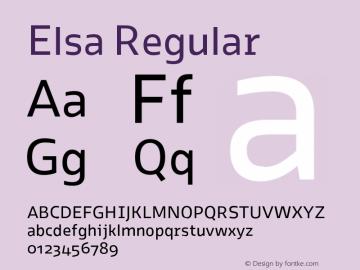 Elsa Regular Version 1.000; Font Sample