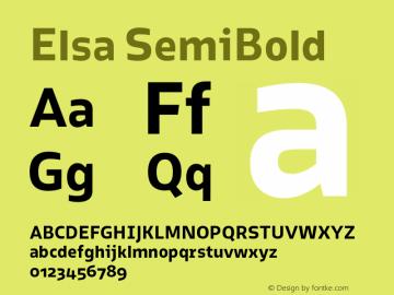 Elsa SemiBold Version 1.000; Font Sample