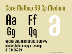 Core Mellow 59 Cp Medium Version 1.000 Font Sample