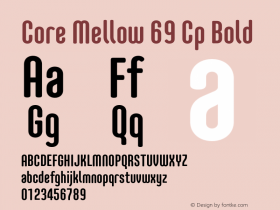 Core Mellow 69 Cp Bold Version 1.000 Font Sample