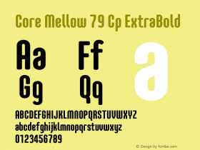 Core Mellow 79 Cp ExtraBold Version 1.000 Font Sample