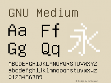 GNU Medium Version 6.3.20131215 Font Sample