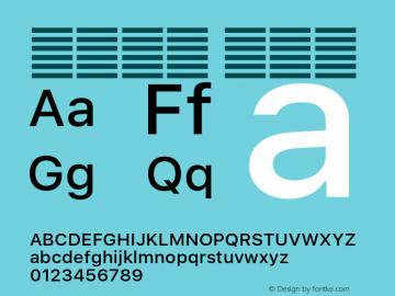 系统字体 中等体 11.0d51e0--BETA Font Sample