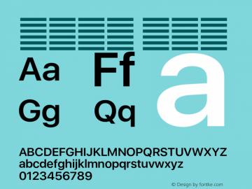 系统字体 半粗体 11.0d37e0--BETA Font Sample