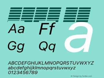 系统字体 斜体 11.0d51e0--BETA Font Sample