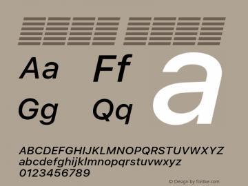 系统字体 中等斜体 11.0d51e0--BETA Font Sample