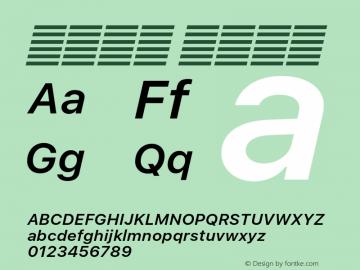 系统字体 半粗斜体 11.0d51e0--BETA Font Sample
