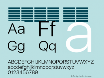 系统字体 细体 11.0d37e0--BETA Font Sample