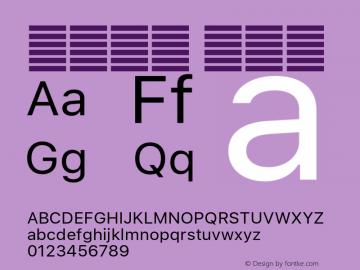 系统字体 常规体 11.0d51e0--BETA Font Sample