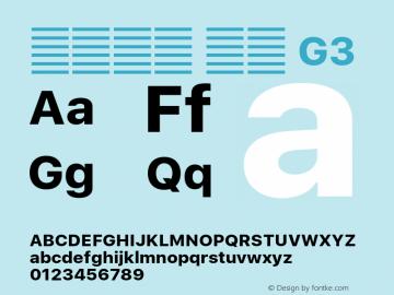 系统字体 粗体 G3 11.0d51e0--BETA Font Sample