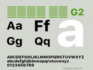 系统字体 粗体 G2 11.0d51e0--BETA Font Sample
