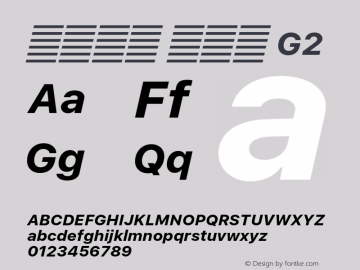 系统字体 粗斜体 G2 11.0d51e0--BETA Font Sample