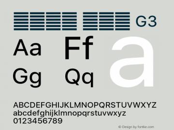 系统字体 常规体 G3 11.0d51e0--BETA Font Sample