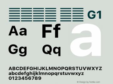 系统字体 粗体 G1 11.0d51e0--BETA Font Sample