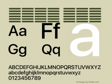 系统字体 中等体 11.0d37e0--BETA Font Sample